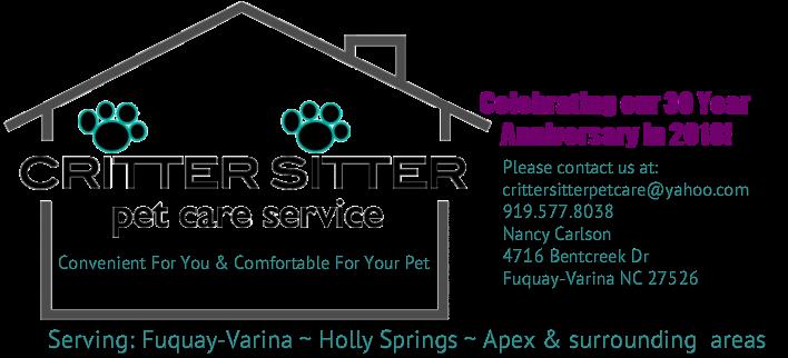 pet care critter sitter pet care service
